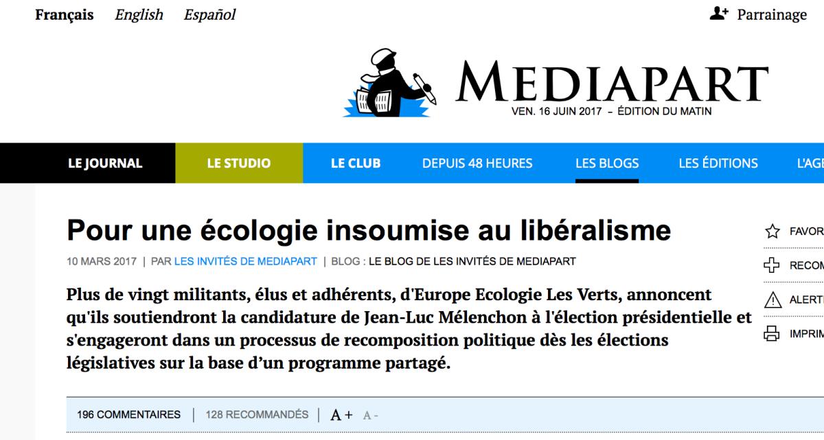 Pour une écologie insoumise aulibéralisme