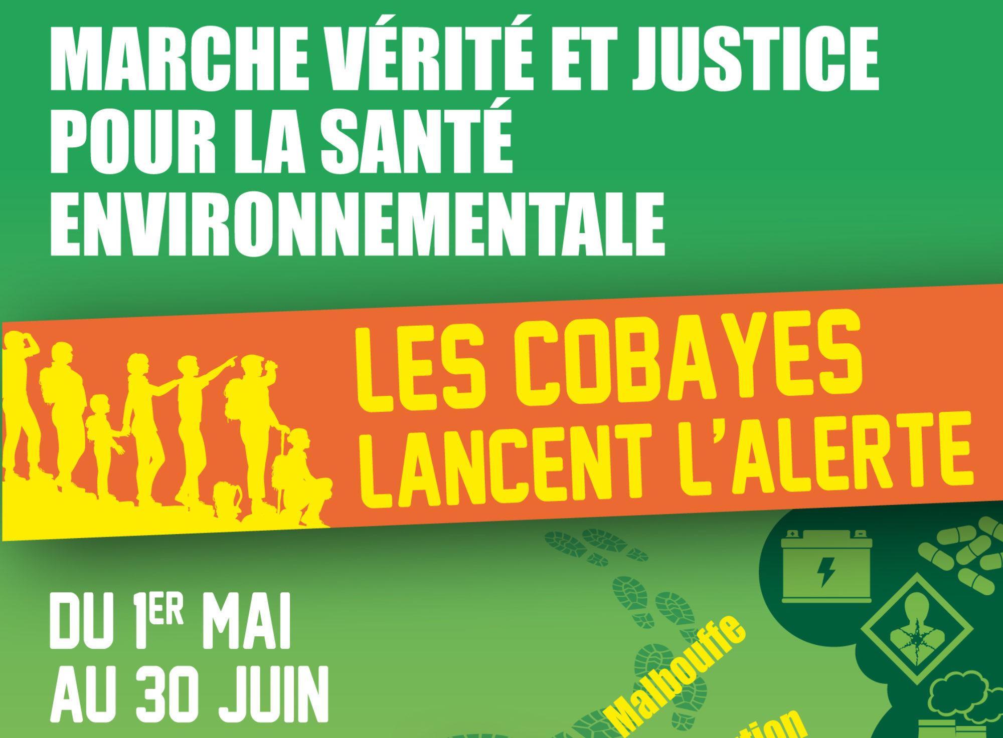 Écologie sociale appelle à la #MarchedesCobayes, une marche de l'écologie pour la santé environnementale avec des dizaines d'associations, des syndicats et plusieurs personnalités politiques @marchecobayes