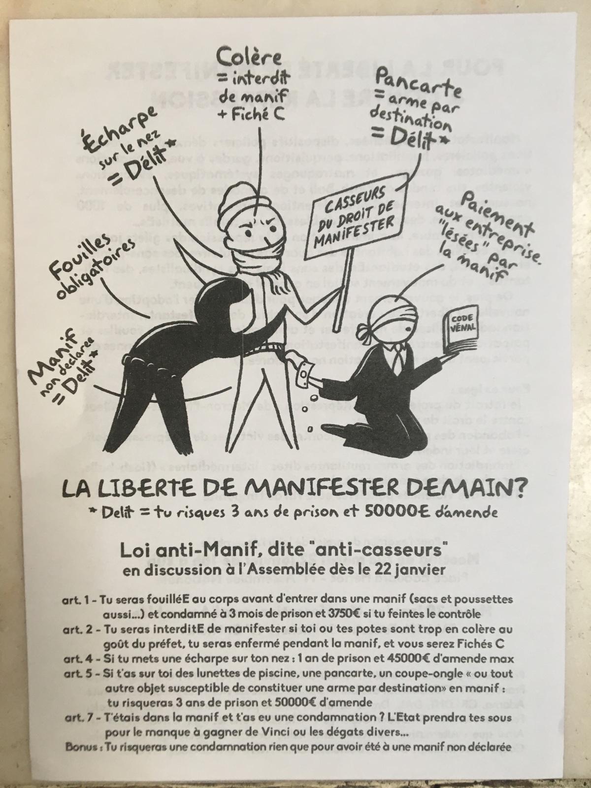Pour la liberté de manifester & contre larépression